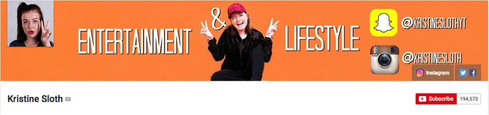 Youtube-stjerne Kristine Sloth