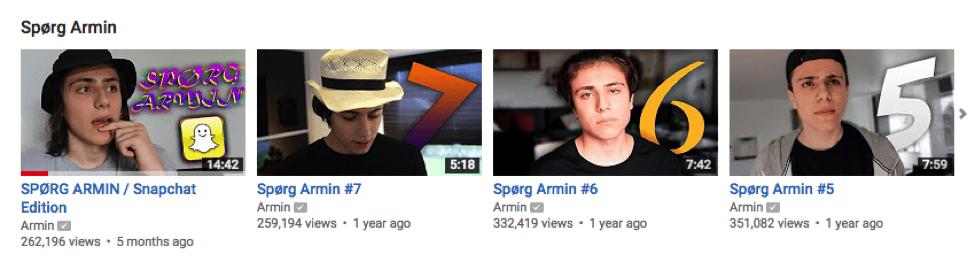 Youtube-stjernen involvere sine følgere med Spørg Armin