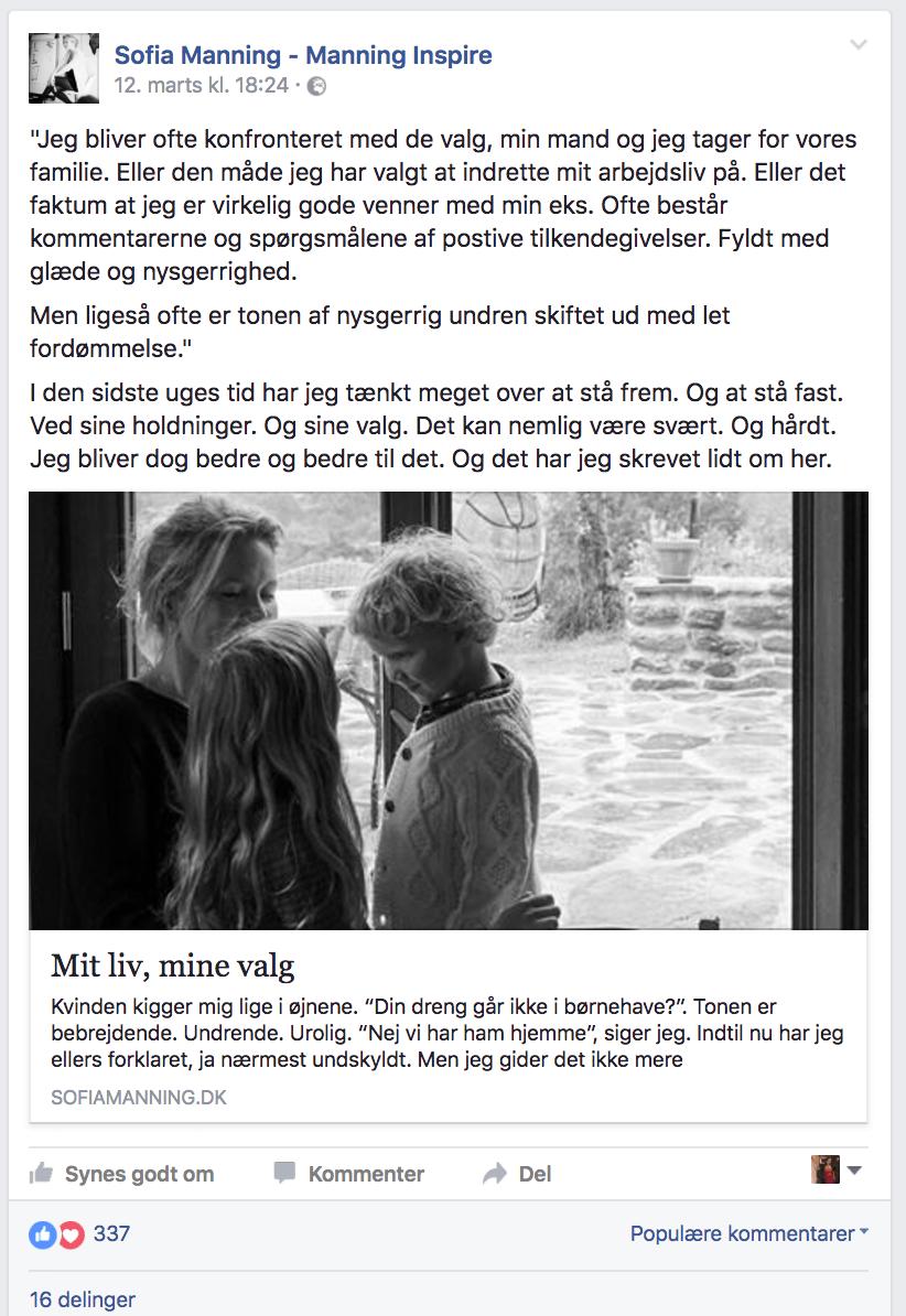 Sofia Manning på Facebook