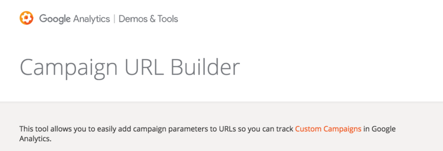 Google Campaign URL Builder - Google Analytics