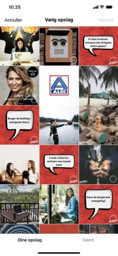 Opret din første Instagram Guide